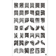 Nail Art 42 Pattern Stamp Stamping Plate Imagen del lazo