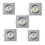 3W Verzonken lampen Verzonken ombouw Krachtige LED 200-300 lm Warm wit Koel wit AC 220-240 AC 110-130 V 5 stuks
