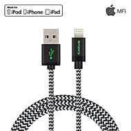 MFI 1.2M(4ft) Braided Lightning Cable  w/ USB Sync and Charge for Apple iPhone 7 6s Plus SE 5s/ iPad Air/Mini