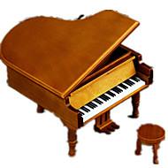 Music Box Castle in the Sky Classic & Timeless Wood Black / White / Khaki For Boys / For Girls