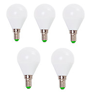 7W E14 / E26/E27 LED Globe Bulbs G45 12 SMD 2835 800 lm Warm White / Cool White Decorative V 5 pcs