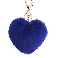 Key Chain Heart-Shaped Key Chain Navy Blue Metal / Plush