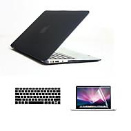 """3 in 1 corp cazuri grele pline cu capac tastatură și ecran HD protector pentru MacBook Air 13.3 """"(culori asortate)"""