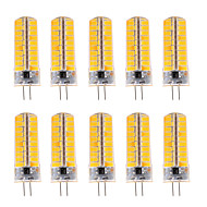 10pcs YWXLight® Dimmable G4 7W 80 SMD 5730 500-700 LM Warm White / Cool White LED Corn Bulbs AC 110V / AC 220V