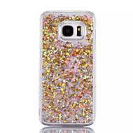 Mert Folyékony Case Hátlap Case Csillámpor Kemény PC mert Samsung S7 edge / S7 / S6 edge plus / S6 edge / S6 / S5