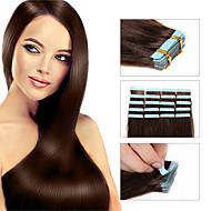 """wątku taśmy ludzkich włosów rozszerzenia 18 """"20"""" 22 """"24"""" 20szt opakowanie bez szwu pu skóry wątku brazylijski remy nowe produkty do włosów"""