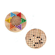 Board Game / Chess Game / Educational Toy For Gift  Building Blocks Leisure Hobby Circular / Square Wood 5 to 7 Years Rainbow Toys