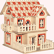 Jigsaw Puzzles Wooden Puzzles Building Blocks DIY Toys European-Style Villas A 1 Wood Ivory Model & Building Toy