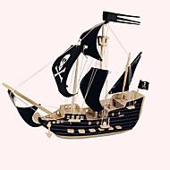 Puzzle Drewniane puzzle Cegiełki DIY Zabawki Statek 1 Drewno Kryształowy Model / klocki