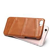 Fierre Shann Genuine Leather Back Cover for Iphone  6s Wax oil Pattern Gift Box
