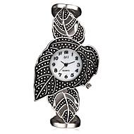 ASJ 아가씨들 패션 시계 팔찌 시계 손목 시계 독특한 창조적 인 시계 일본어 석영 일본 쿼츠 방수 충격 방지 합금 밴드 빈티지 나뭇잎 참 우아한 럭셔리 틴타늄 화이트