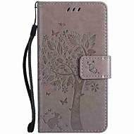 Til Lommebok Kortholder med stativ Inngravert Etui Heldekkende Etui Tre Hard PU-lær til NokiaNokia Lumia 950 Nokia Lumia 640 Nokia Lumia