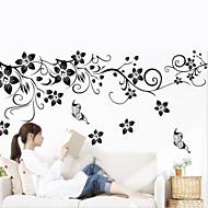 보태니컬 벽 스티커 플레인 월스티커 데코레이티브 월 스티커,비닐 자료 이동가능 홈 장식 벽 데칼