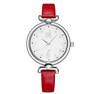 SK Damen Kleideruhr Modeuhr Quartz / PU Band Bequem Elegante Rot Orange Grün Rosa Orange Rot Grün Rosa