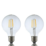 4W E26/E27 LED-glødepærer G80 4 COB 400 lm Varm hvit AC 220-240 V 2 stk.