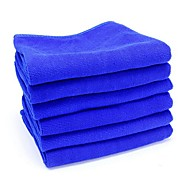 ziqiao 6pcs / lotto strumenti di pulizia auto in microfibra lavaggio panno asciugamano prodotti di polvere (30 * 30cm)
