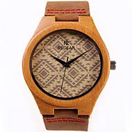 Men's Women's Fashion Watch Wood Watch Quartz / Wood Band Casual Brown