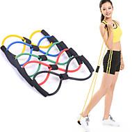 1Pcs 8 Shaped Elastic Tension Durable Rope Chest Expander Yoga Pilates Sport Fitness Belt Body Shape Health Care Random Color