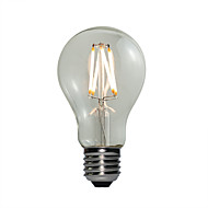 4W E27 LED-globepærer A60(A19) 4 COB 360 lm Varm hvid Justérbar lysstyrke Vekselstrøm 220-240 V 1 stk.