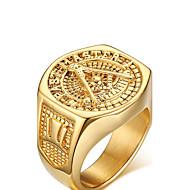 Tyylikkäät sormukset Love Personoitu Gold Plated Korut Kultainen Korut Varten Häät Party Syntymäpäivä Päivittäin Kausaliteetti Urheilu