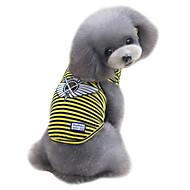 犬用品 ベスト 犬用ウェア 夏 縞柄 ファッション カジュアル/普段着 イエロー レッド グリーン