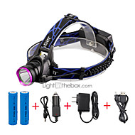 U'King® ZQ-X804#3-US CREE XM-L T6 2000LM 3Modes Zoomable Headlamp Kit Purple Head