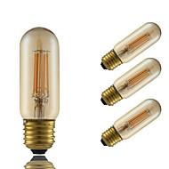 E26/E27 LED-gloeilampen T 4 COB 350 lm Amber Dimbaar Decoratief AC 220-240 V 4 stuks