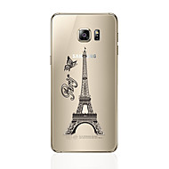 Varten Läpinäkyvä Kuvio Etui Takakuori Etui Eiffelin torni Pehmeä TPU varten Samsung S7 edge S7 S6 edge plus S6 edge S6 S5 S4