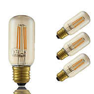 4W E26/E27 LED-glødetrådspærer T 4 COB 350 lm Ravgul Dekorativ Justérbar lysstyrke Vekselstrøm 220-240 V 4 stk.
