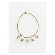 Bransoletki i łańcuszki na rękę Perłowy Stop Modny Biżuteria Gold Biżuteria 1szt