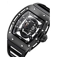 Muškarci Uniseks Sat kostur Modni sat Ručni satovi s mehanizmom za navijanje Japanski Kvarc Vodootpornost Svijetli u mraku Punk Silikon