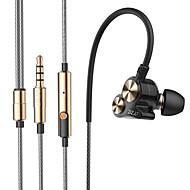 dzat dt-05 kaksinkertainen dynaaminen 3,5 mm korva kuuloke melun urheilu kuuloke dj hifi basso kuulokkeet nappikuulokkeet mikrofonilla