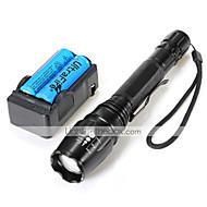 Valaistus LED taskulamput Taskulamppu-setit LED 2000 Lumenia 5 Tila Cree XM-L T6 18650 Säädettävä fokusTelttailu/Retkely/Luolailu