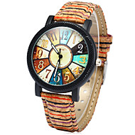 Dames Modieus horloge Horloge Hout Kwarts Kleurrijk Hout Band Regenboog Meerkleurig