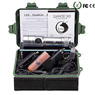 U'king ZQ-X906S#2 Cree XML T6 2000LM LED 5Modes Dimming Flashlight Torch Kit Support DC Charging Battery with USB Cable and Car Charger