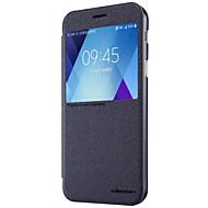 용 윈도우 플립 반투명 케이스 풀 바디 케이스 단색 하드 인조 가죽 용 Samsung A3 (2017) A5 (2017) A7 (2017)