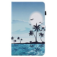 For Samsung Tab T580 Card Holder with Stand Flip Pattern Case Full Body Case Sunrise Hard PU Leather for Tab E 9.6 Tab E 8.0 Tab A 9.7 Tab A 8.0