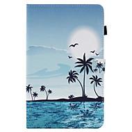 Pour Porte Carte Avec Support Clapet Motif Coque Coque Intégrale Coque Paysage Dur Cuir PU pour SamsungTab E 9.6 Tab E 8.0 Tab A 9.7 Tab