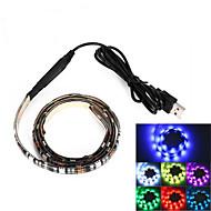 brelong usb 90cm 6.5W 500lm DC5V 5050 27 lamp waterdichte IP65 rgb tv / laptop achtergrond licht met rgb kleur
