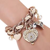 Damskie Dziecięce Modny Zegarek na nadgarstek Zegarek na bransoletce Kwarcowy sztuczna Diament Kryształ górski Stop PasmoPostarzane Heart