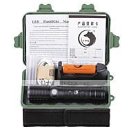 Valaistus LED taskulamput Taskulamppu-setit LED 2000 Lumenia 3 Tila Cree XM-L T6 18650 AAA 26650 Säädettävä fokus ladattava