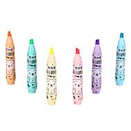 resaltadores 6 colores de tinta 1 juego de 6 piezas
