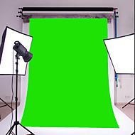 3x5ft grøn tynd vinyl fotografering baggrund studio prop foto baggrund