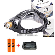 U'King® ZQ-X839GO#2-EU 2* CREE XPE Natural/ UV Purple 4Mode Zoomable Multifunction Headlamp Bicycle Light Kit