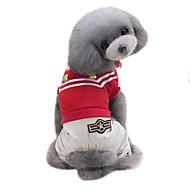 犬用品 Tシャツ ジャンプスーツ 犬用ウェア 夏 春/秋 ブリティッシュ ファッション スポーツ クラシック ブラック レッド