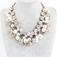 Damskie Naszyjniki z wisiorkami Diament Pojedynczy Strand Perłowy Stop Przyjaźń Modny euroamerykańskiej White Biżuteria NaImpreza