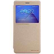 のために ウィンドウ付き オートオン/オフ フリップ つや消し ケース フルボディー ケース ソリッドカラー ハード PUレザー のために Huawei Huawei Honor 8 Huawei Honor 6X Huawei Mate 9 Huawei Enjoy 6s