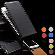 Kompatibilitás iPhone 8 iPhone 8 Plus iPhone 5 tok tokok Flip Teljes védelem Case Tömör szín Kemény Valódi bőr mert iPhone 8 Plus iPhone
