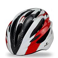 スポーツ 男女兼用 バイク ヘルメット 18 通気孔 サイクリング サイクリング マウンテンサイクリング ロードバイク レクリエーションサイクリング ハイキング PC EPS イエロー レッド ブルー パープル