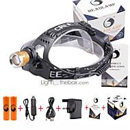 Otsalamput LED 3000 Lumenia 4.0 Tila Cree XP-E R2 18650 Säädettävä fokus Kompakti koko Väärennetyt DetectorTelttailu/Retkely/Luolailu